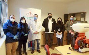 Blumar dona equipo para realizar sanitizaciones al Hospital de Aysén