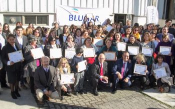 Blumar y el Sence capacitaron a casi un centenar de vecinos de Talcahuano