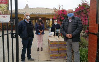 Donan jurel a residentes de la Fundación las Rosas para reforzar su sistema de salud