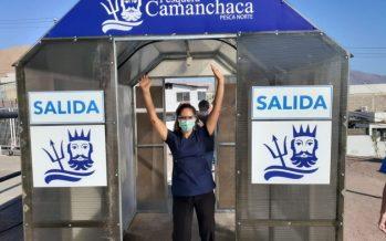 Camanchaca pone a disposición 10 túneles sanitizadores en Iquique