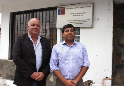 Reunión con director zonal pesca Javier Chavez